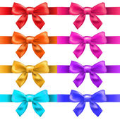Big Ribbons With Bow — Stock Vector