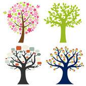 Big Set Tree — Stock Vector