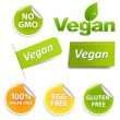 Vegan Labels Set — Stock Vector