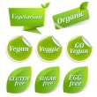 Vegan Labels Big Set — Stock Vector