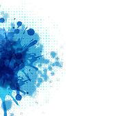 Fondo abstracto con gota azul — Vector de stock
