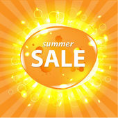 Orange Summer Sale Poster — Stock Vector
