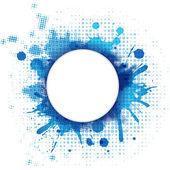 Abstrait bleu avec blob et bulle — Vecteur