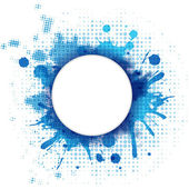 Abstract Blue Background With Blob And Bubble — Stock Vector