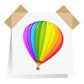 Notas de papel con el globo de aire — Vector de stock