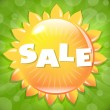 Summer And Spring Sale Poster — Stock Vector