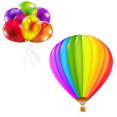 Color Balloons Set — Stockvector