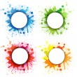 Abstract Bubble With Blobs Set — Stock Vector