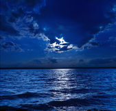 Moonlight over water — Stock Photo