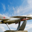 MiG-19 monument - Stock Photo