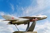 MiG-19 monument — Stock Photo