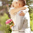 Series. kissing newlyweds — Stock Photo