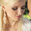Close up of bride with groom — Stock Photo #11313612
