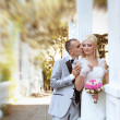 Happy bride and groom, wedding — Stock Photo #11313653