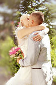 Series. kissing newlyweds — Photo