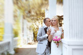 Happy bride and groom, wedding — Stock Photo