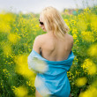 Girl on meadow - Stock Photo
