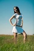 Sporty girl outdoors — Стоковое фото