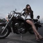 Biker girl — Stock Photo #12261964