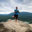 Mountain Yoga - Man Pose 5 — Foto de Stock