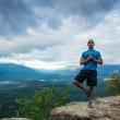 Mountain Yoga - Man Pose 13 — Stock Photo