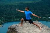 Mountain Yoga - Man Pose 2 — Stock Photo