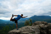 Mountain Yoga - Man Pose 12 — Stock Photo