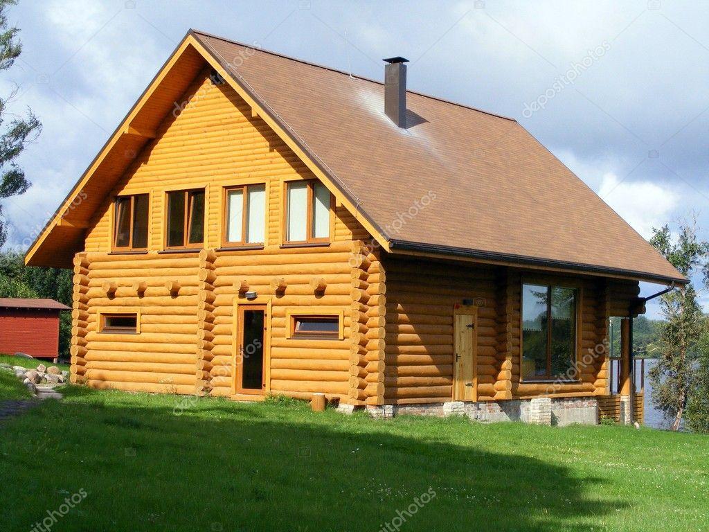 Beautiful Wooden House Stock Photo Virgonira 11386711