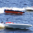 "RIGA, LATVIA - 24 JULY: Rigid Inflatable Boat race ""Six hours of Riga"" in Riga, Latvia, on july 24, 2010. — Stock Photo"