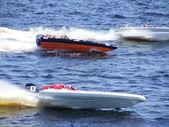 "RIGA, LATVIA - 24 JULY: Rigid Inflatable Boat race ""Six hours of Riga"" in Riga, Latvia, on july 24, 2010. — Stok fotoğraf"