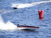 "RIGA, LATVIA - 24 JULY: Rigid Inflatable Boat race ""Six hours of Riga"" in Riga, Latvia, on july 24, 2010. — Stockfoto"