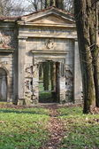 Vieux mur mise au tombeau — Photo