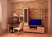 Furniture, computer desk — Stock Photo