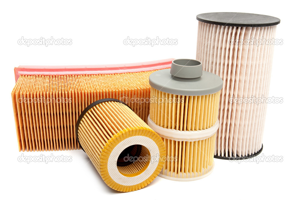 Automotive oil filter isolated on white — Stock Photo #10931973