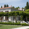 Miloer villa on the Adriatic Sea - Stock Photo