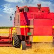 Royalty-Free Stock Photo: Combine harvesting wheat