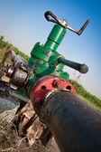 Gas station valve — Stock Photo