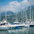 Stock Photo: Seport with luxury yachts