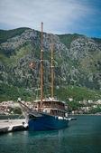 A sailing ship in Montenegro — ストック写真