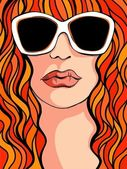 Women in sunglasses — Stock Vector