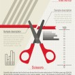 Infographics set. Cutting scissors — Stock Vector