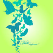 Beautiful abstract background with butterfly. — Stock Vector
