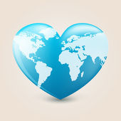 Earth heart — Stock Vector