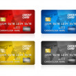 Credit Card Collection Isolated — Stock Photo