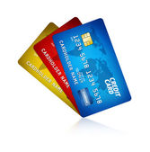 Pack Of Credit Card Isolated — Stock Photo
