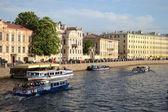 Fontanka canal in Saint-Petersburg — Stock Photo