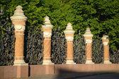Decorative cast-iron fence — Stock Photo
