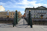 Small bridge in St. Petersburg — Stock Photo