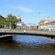 Stock Photo: Potseluev bridge in St. Petersburg