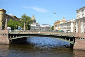 Potseluev bridge in St. Petersburg — Stock Photo
